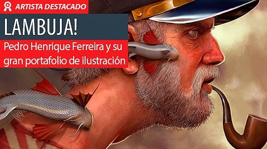 Ilustración y talento de Pedro H. Ferreira aka LAMBUJA!