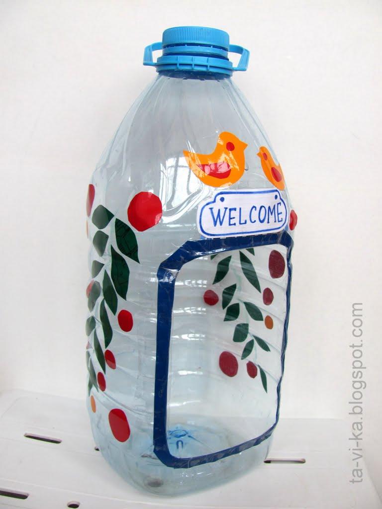 Поделки из пластиковых бутылок. Поросята. Мастер класс 15