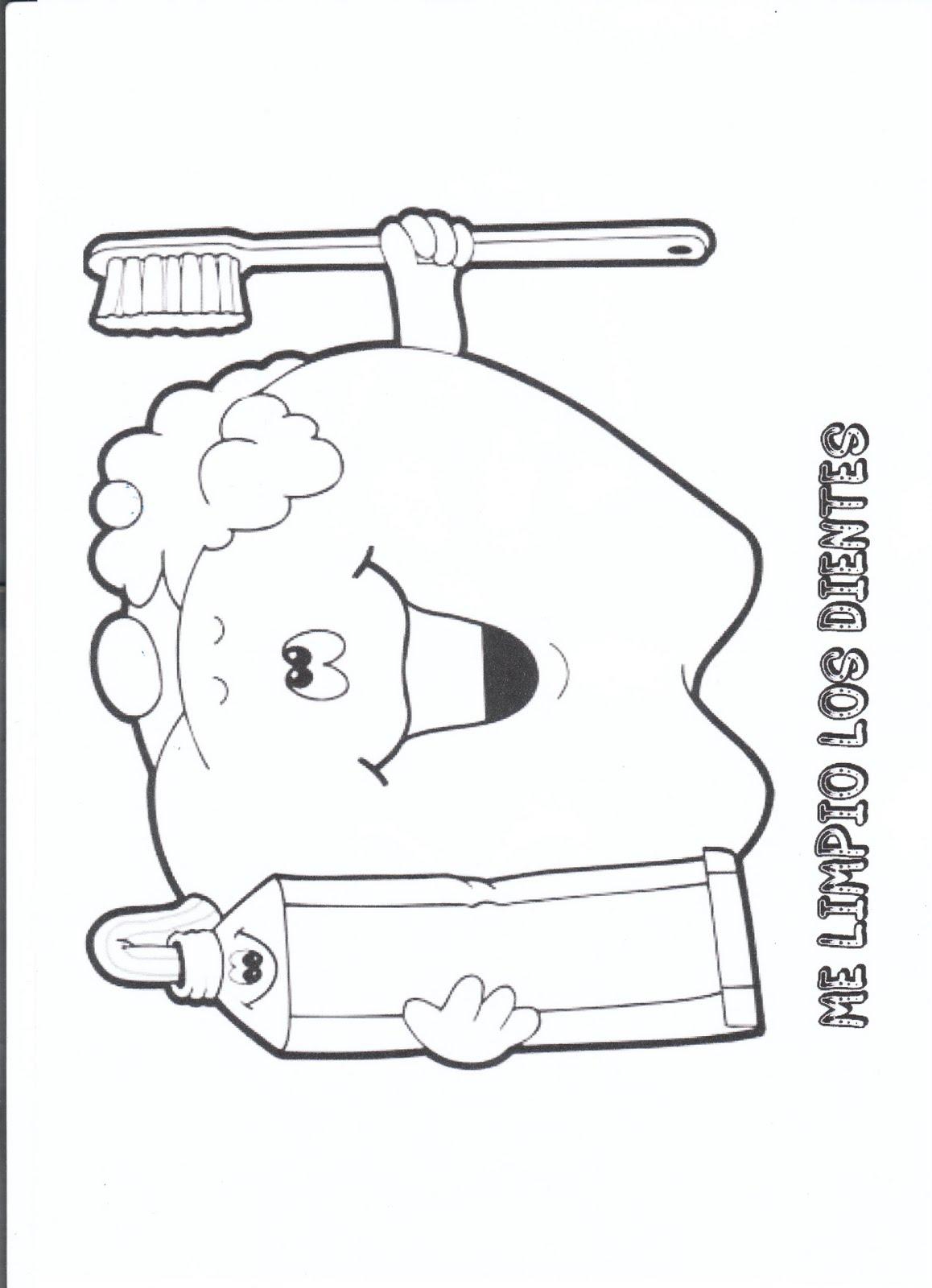 Fantástico Páginas Dentales Para Colorear Para Preescolar Ornamento ...