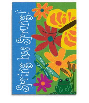 Spring has Sprung Garden Flag