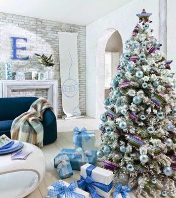 Recortes decorados blanca navidad - Arbol de navidad nevado artificial ...