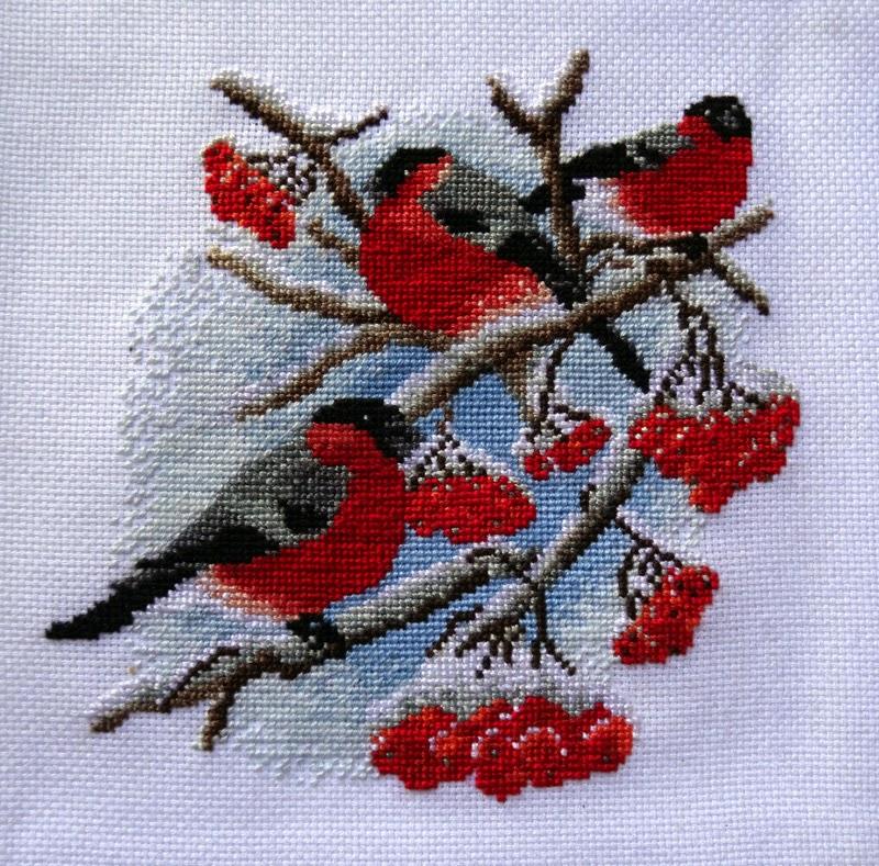 Значение вышивки снегири