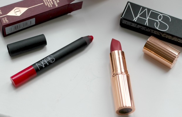 Nars, velvet matte, lip pencil, dragon girl, charlotte tilbury, matte revolution, lipstick, amazing grace, selfridges, high end, beauty, makeup, haul, review,