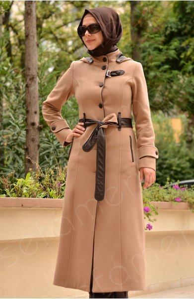 معاطف أنيقة للمحجبات 2013- ملابس محجبات 2013