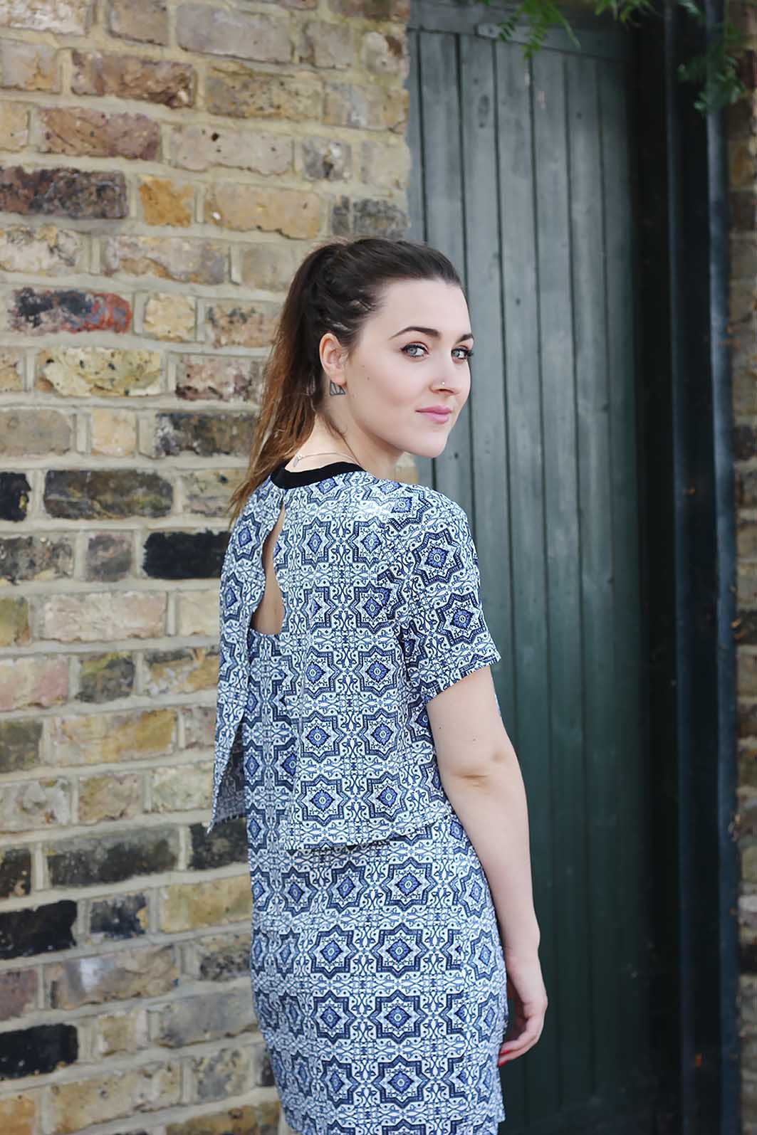topshop tile dress daisy kent