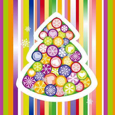 Christmas tree colorful download free wallpapers for Apple iPad