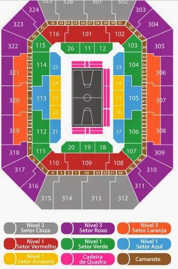 Mapa de asientos hsbc Arena NBA
