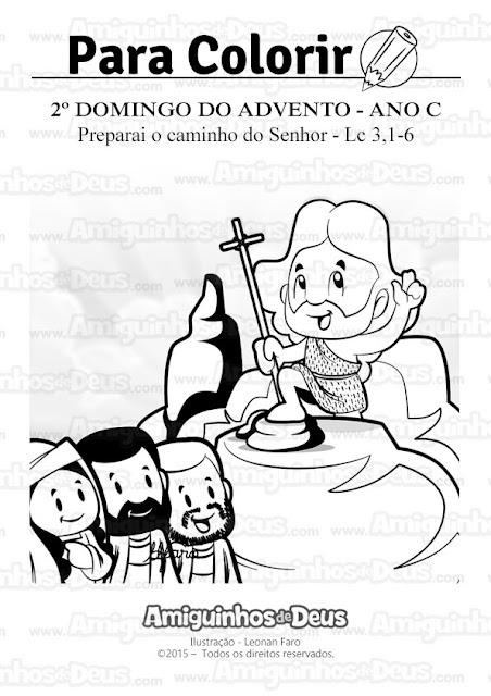 segundo domingo do advento ano c desenho para colorir
