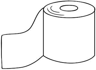 Dibujo de papel de baño para colorear