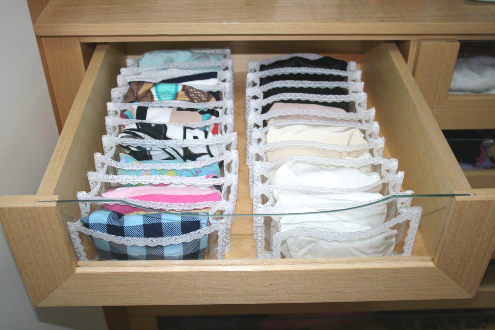 Make it easy como organizar gaveta de calcinhas - Como organizar un armario pequeno ...