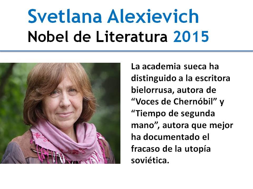 Premio Nobel de Literatura 2015