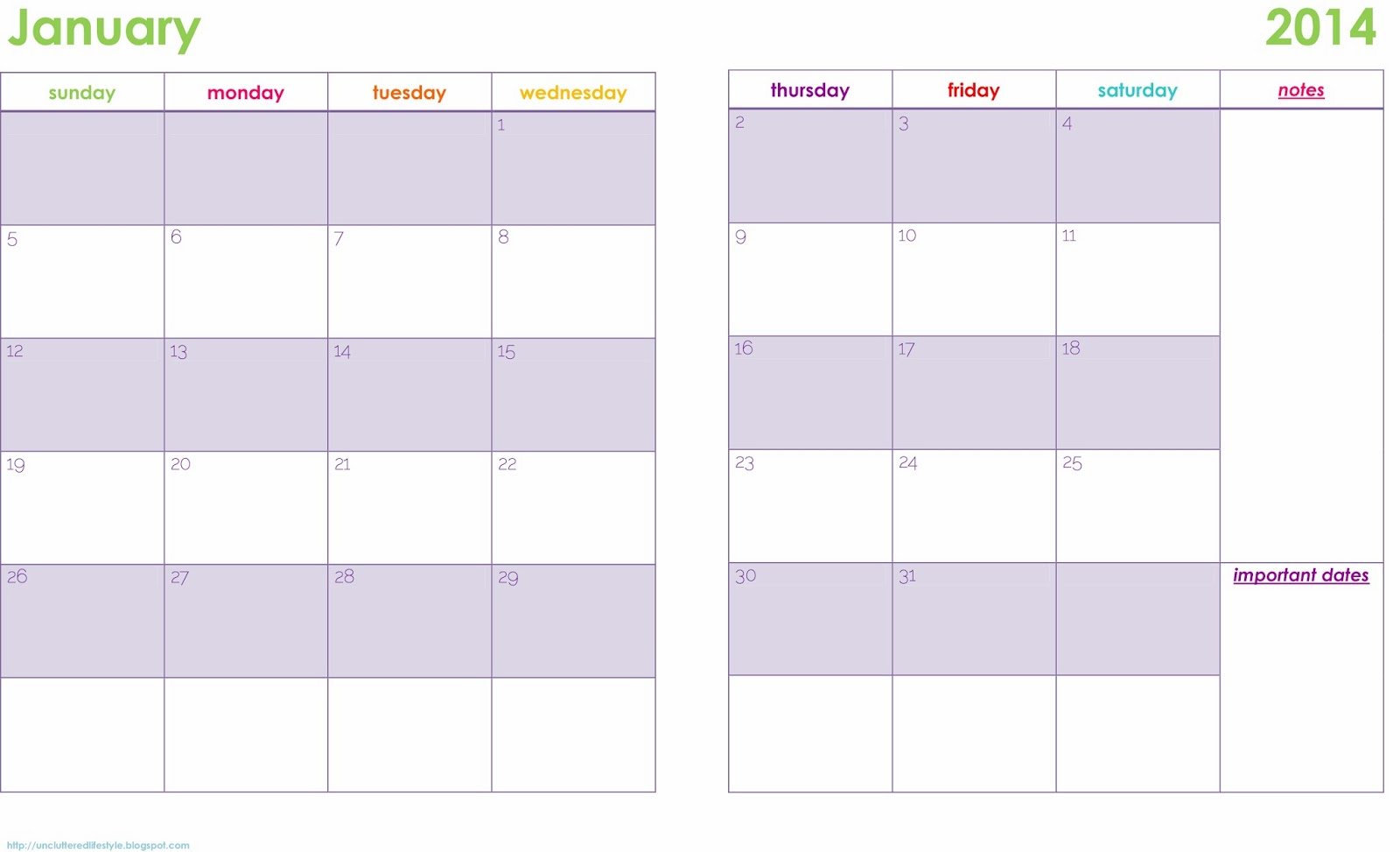 Printable weekly planner calendars 2014 new calendar Room planner free