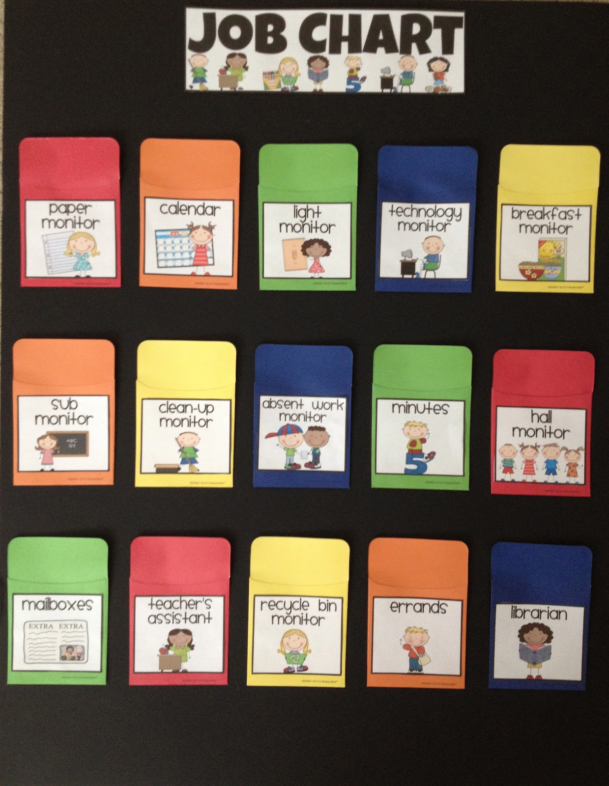 Classroom Job Ideas Elementary : Stickers and staples classroom jobs