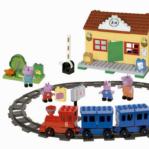JUGUETES - PEPPA PIG  Estación de Tren | Juego de construcción  Producto Oficial | Simba 4373498 | A partir de 3 años