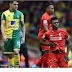Liverpool failed to reap the Full Points from Norwich City Premier League