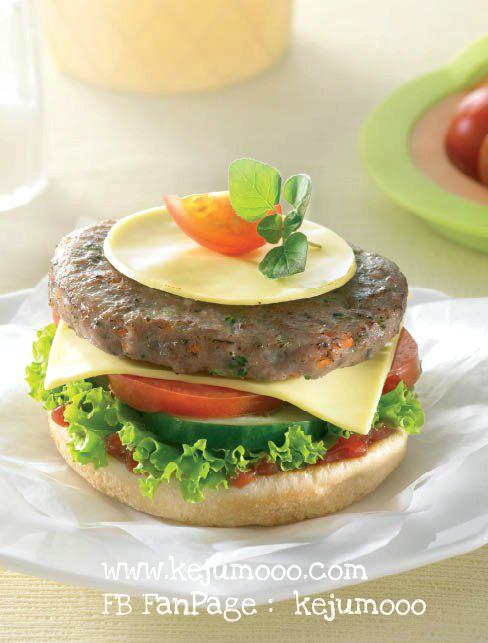 Burger Sayuran - Keju Kraft
