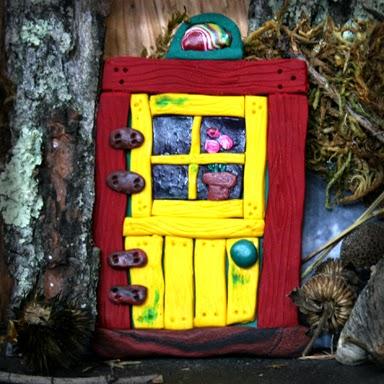 Yellow Fairy Door - Carol Marion