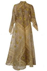 Cotton Kaftan Long Sleeve Tunic Evening Gown Caftan