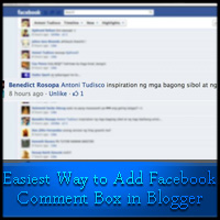 The Easiest Way to Add Facebook Comment Box in Blogger
