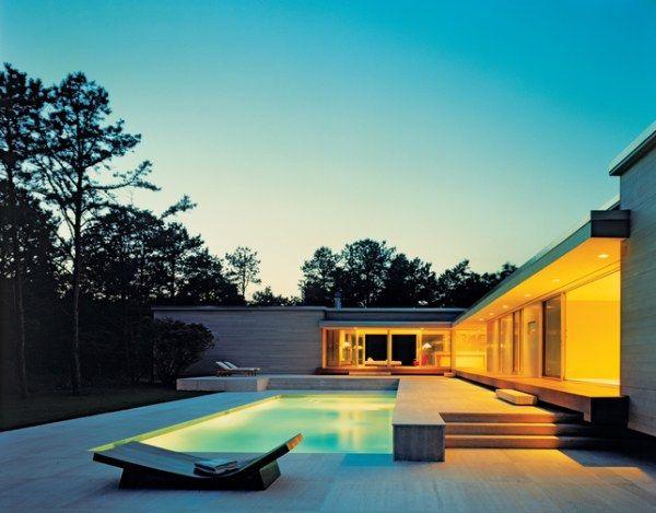 Swimming pool minimalist home design ideas for Minimalist house with swimming pool