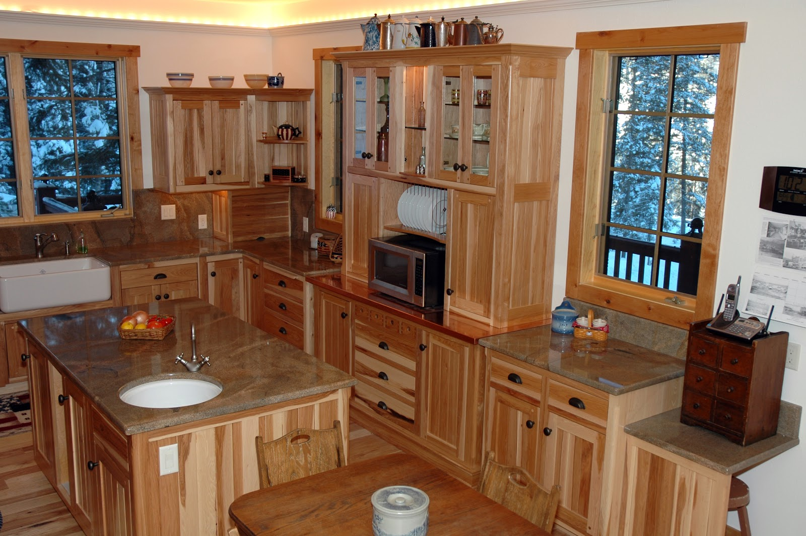 lodge on lot at moose creek estates can be your dream home updated kitchen hutch: stand kitchen dsc
