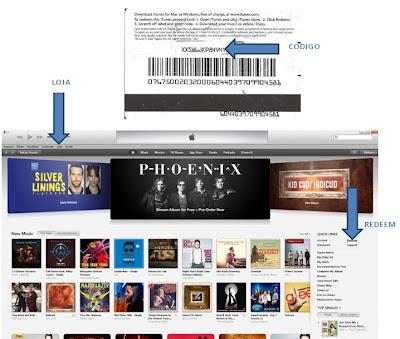 Como resgatar o codigo iTunes Store EUA em iTunes