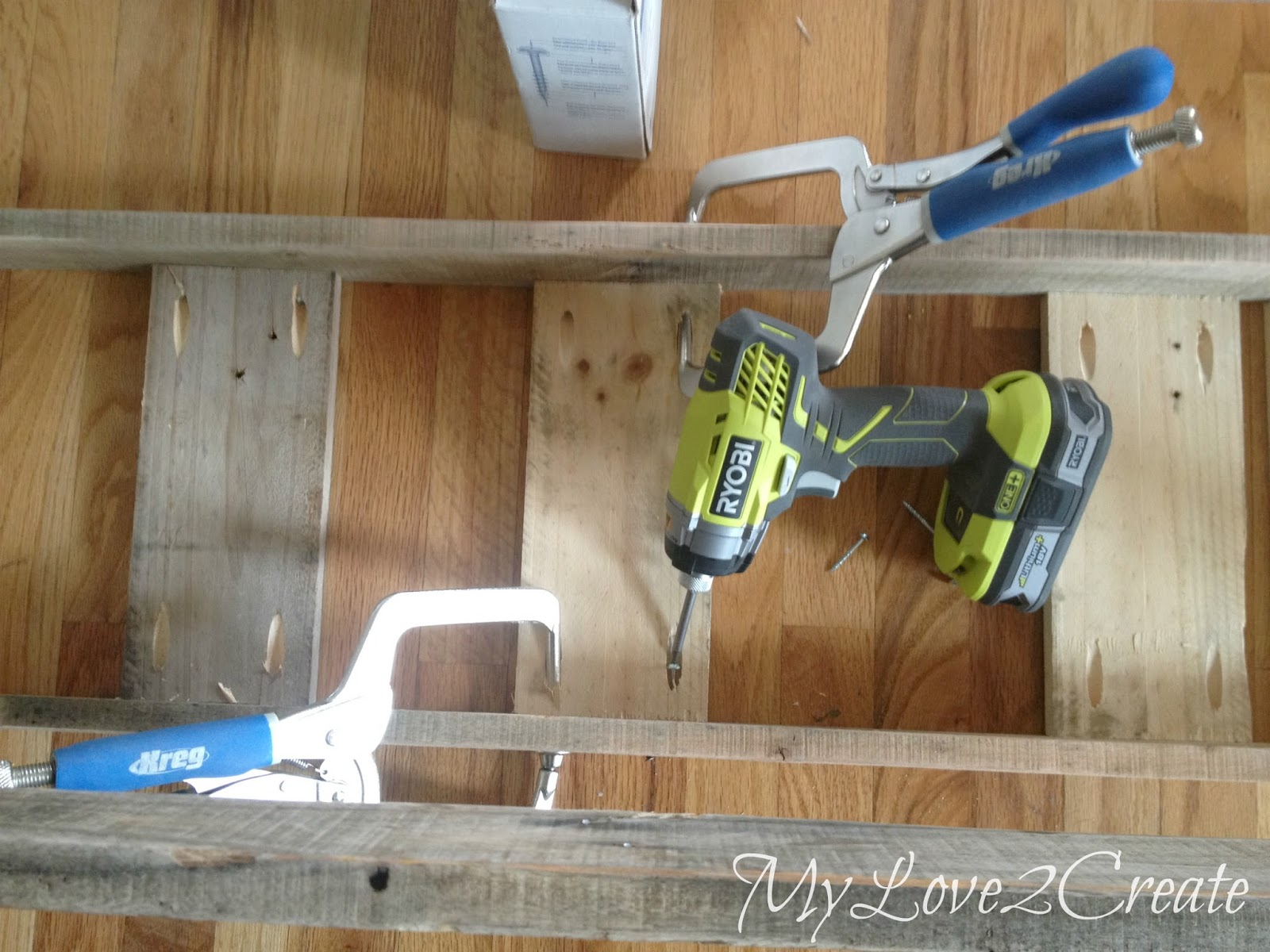 Attaching bench support boards with pocket holes