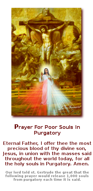 imagen de jesus para animas del purgatorio