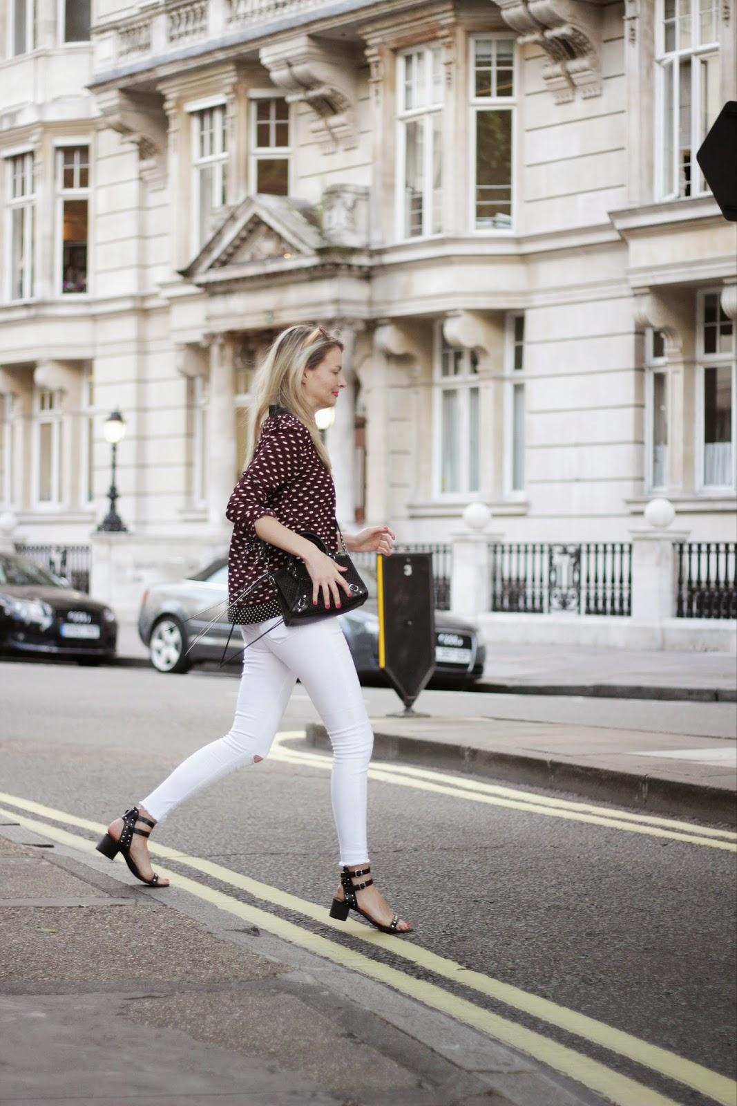 Asos jeans, white asos jeans, white jeans, white skinny jeans, asos ridley jeans, kurt geiger, kurt geiger sandals, isabel marant inspired sandals, street style, london street style, balenciaga, balenciaga mini city bag