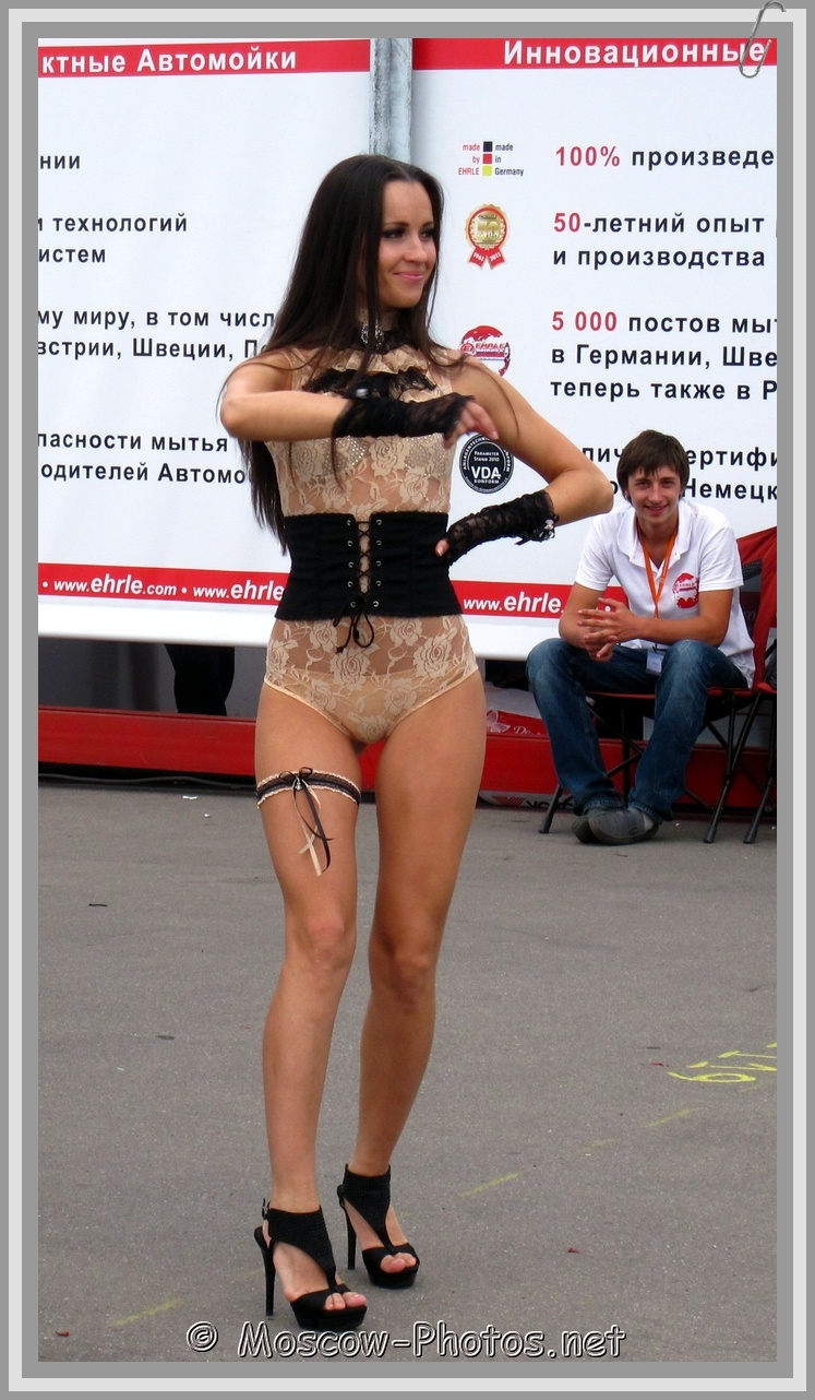 Smiling Moscow Girl Dancing