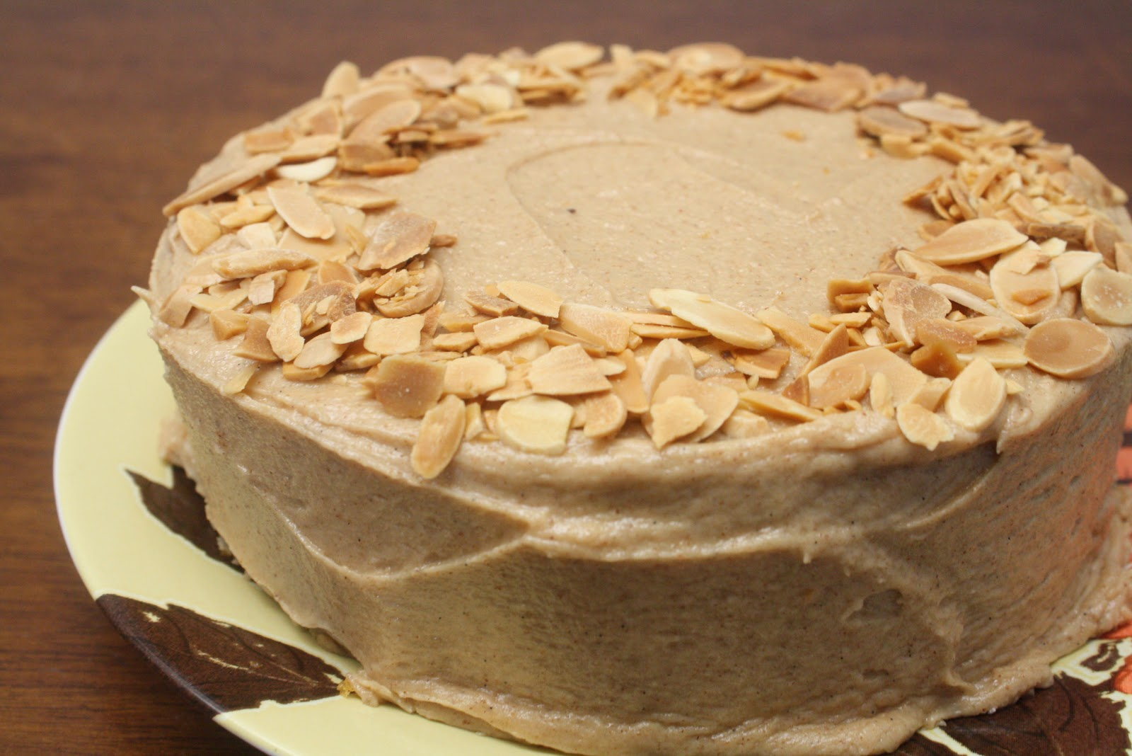 ... Baked Sunday Mornings: Pumpkin Almond Cake with Almond Butter Frosting