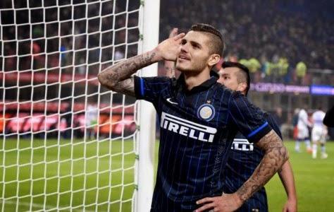 Penalti Mauro Icardi Bawa Inter Milan Atasi Sampdoria 1-0