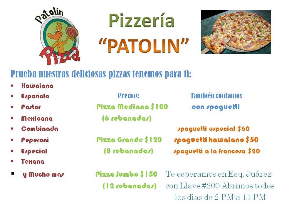 "Pizzas ""PATOLIN"""