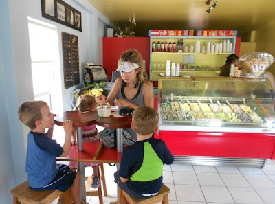 italian gelato ice cream at tutti fruitti in placencia pritchard family belize