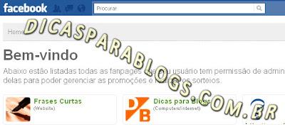 criar promoção do blog no facebook