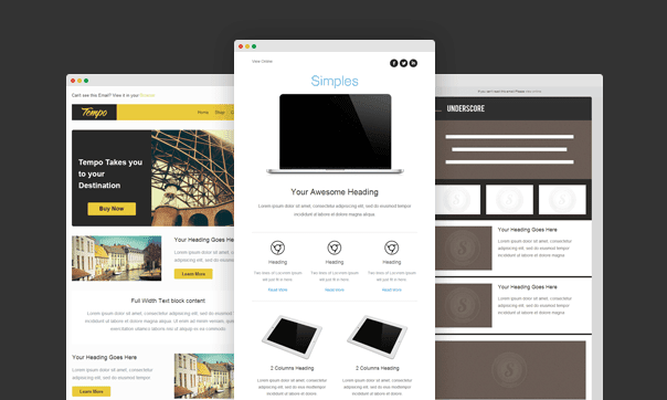 Responsive Email Templates from Stamplia