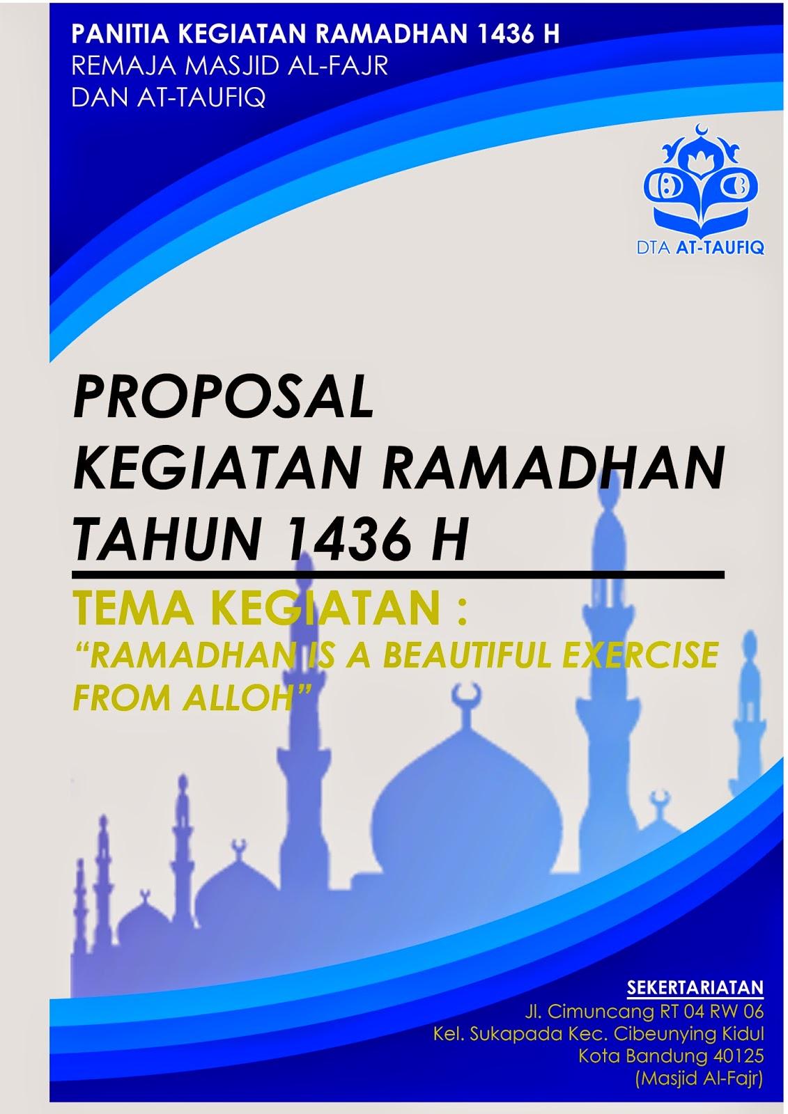 Proposal Kegiatan Ramadhan 1436 H Format Blog