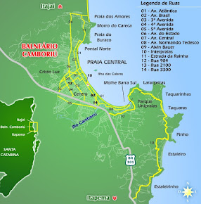 Mapa balneario Camboriú