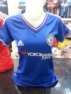 gambar desain terbaru foto photo kamera Jersey ladies Chelsea home New Yokohama Tyres terbaru musim 2015/2016 di enkosa sport toko online terpercaya lokasi di pasar tanah abang jakarta pusat