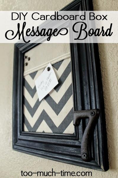 cardboard message board