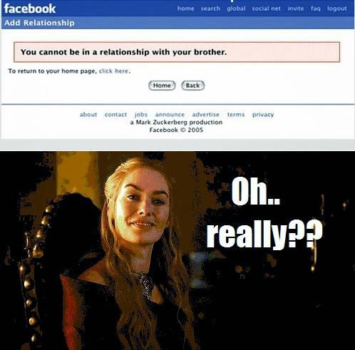 cersei facebook - Juego de Tronos en los siete reinos