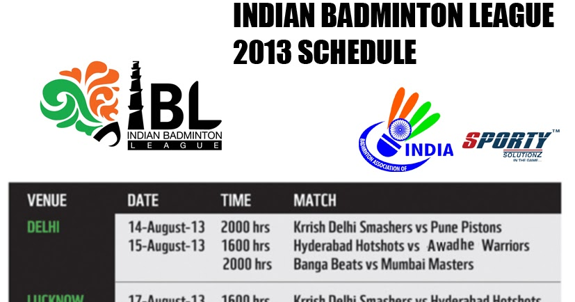 Indian Badminton League Live Streaming - IBL 2013