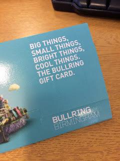 Bullring gift card