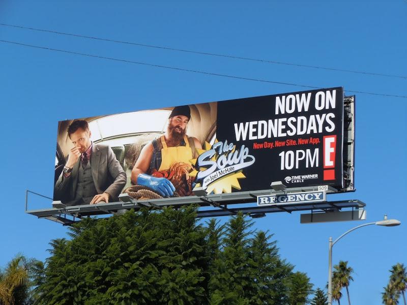 The Soup Fisherman billboard