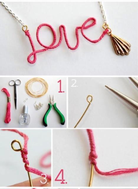 collar para tu mejor amiga de love (tambien podrias hacer uno que diga BFF, uno para ti o para ella. en el paso 1 vienen todos los materiales.