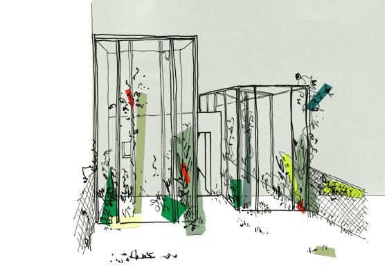 Va kouadio architecture d 39 int rieur croquis jardin partag for Croquis jardin
