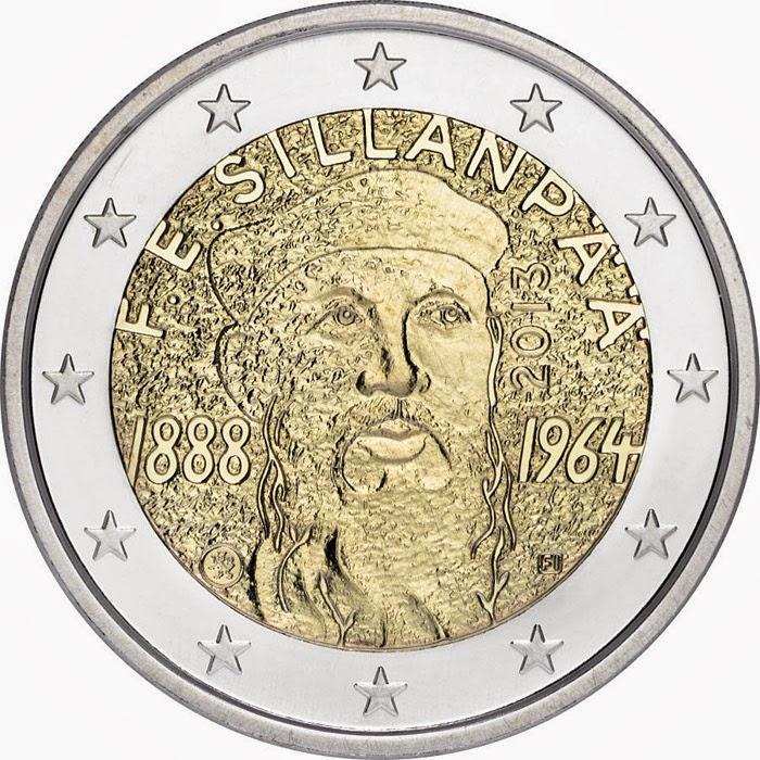 2 Euro Commemorative Coins Finland 2013 Sillanpaa