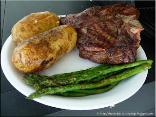 porterhouse steak dinner