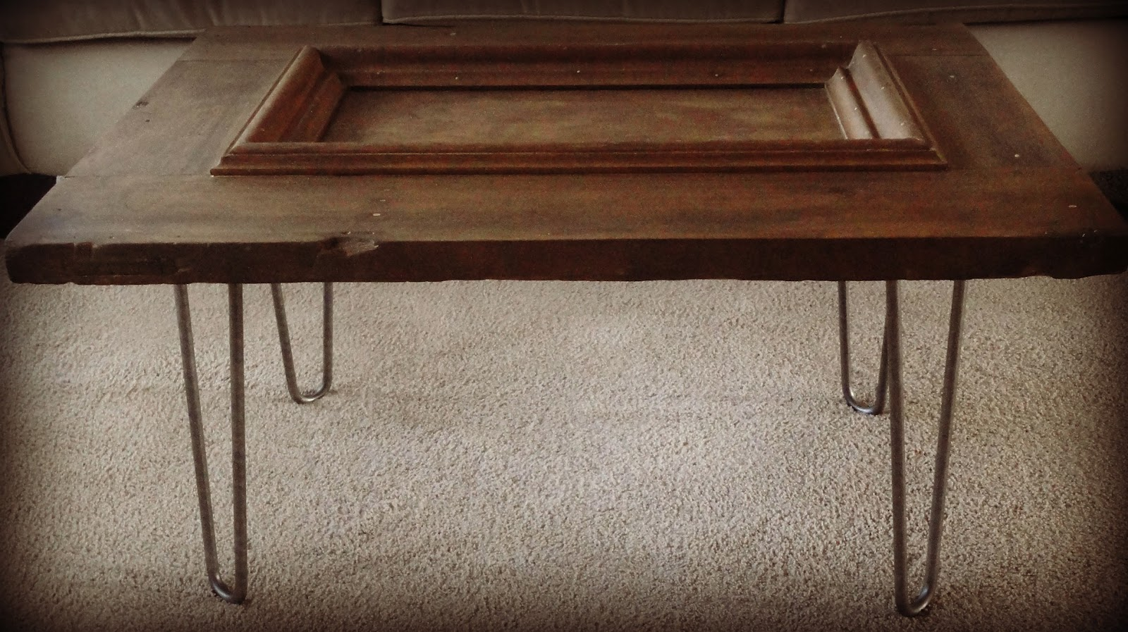 Behind The Red Door Coffee Table With Hairpin Legs