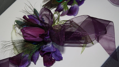 Purple Corsage - Franklin Plaza Ballroom - Splendid Stems Floral Designs